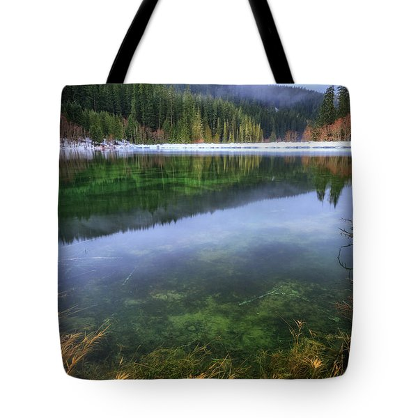 Tote Bag featuring the photograph Carmen Reservoir by Cat Connor