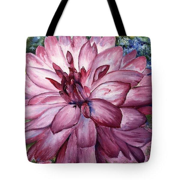 Carmine Dahlia Tote Bag