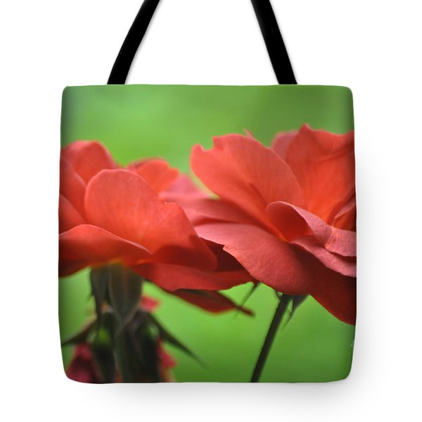 Carmine Rose Tote Bag