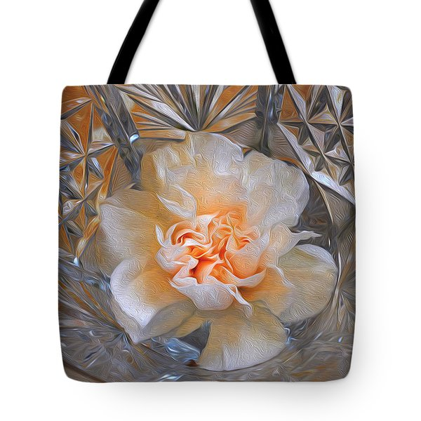 Carnation In Cut Glass 7 Tote Bag