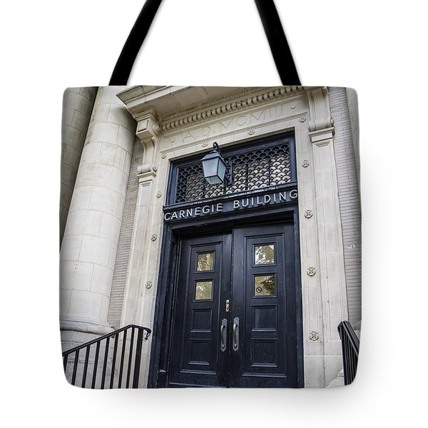 Carnegie Building Penn State  Tote Bag by John McGraw
