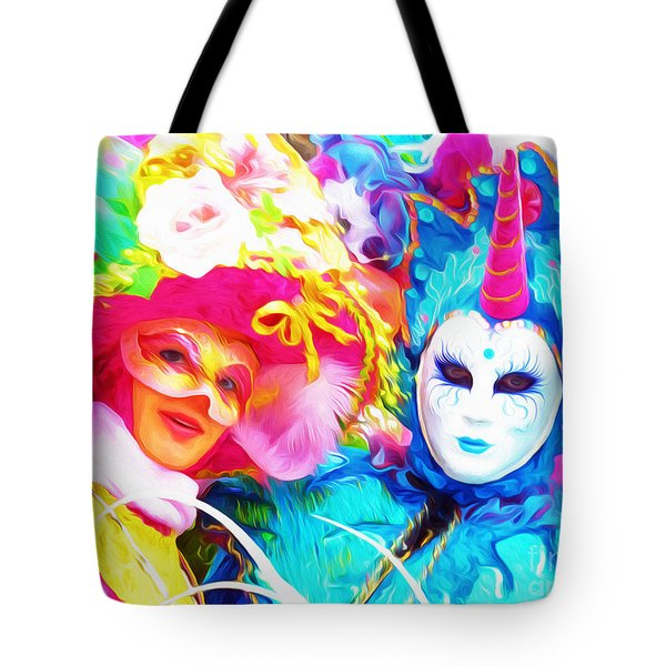 Carnevale Two Tote Bag by Jack Torcello