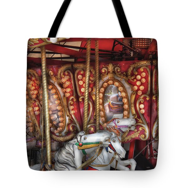 Carnival - The Carousel Tote Bag by Mike Savad
