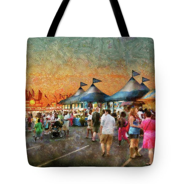 Carnival - Who Wants Gyros Tote Bag by Mike Savad