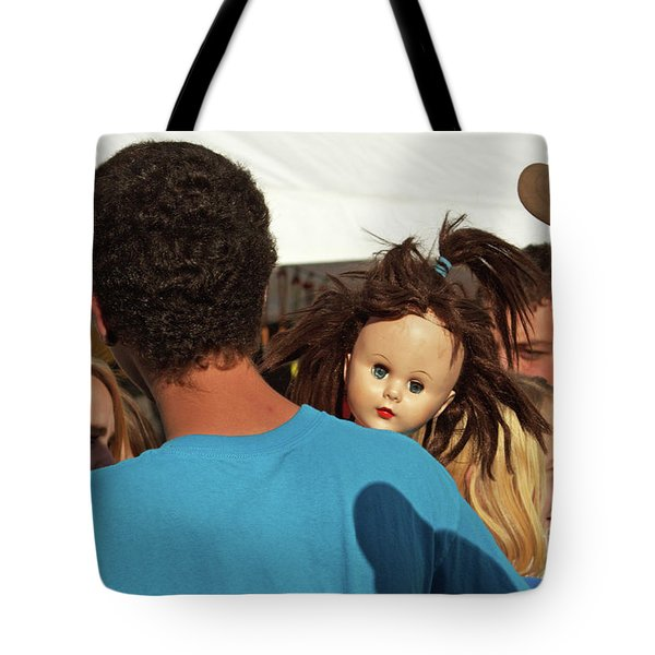 Tote Bag featuring the photograph Carnival Adoption by Joe Jake Pratt