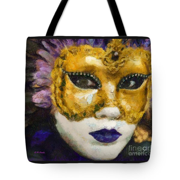 Tote Bag featuring the painting Carnival Of Venice by Elizabeth Coats