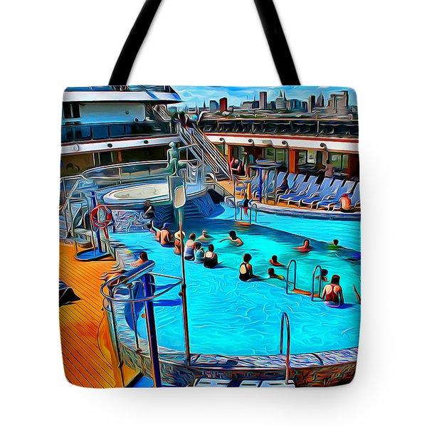 Carnival Pride Pool Tote Bag