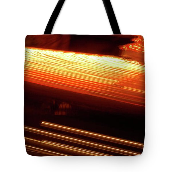 Carnival Ride Lights Tote Bag