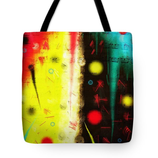 Tote Bag featuring the digital art Carnival by Silvia Ganora