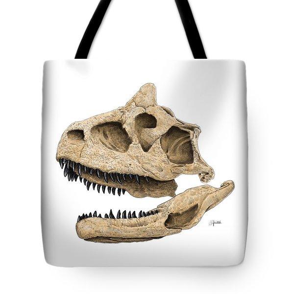 Carnotaurus Skull Tote Bag