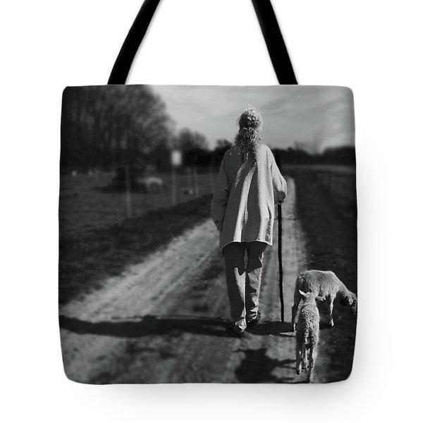 Carol And Her Lambs Tote Bag