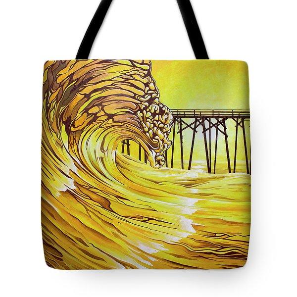 Carolina Beach North End Pier Tote Bag