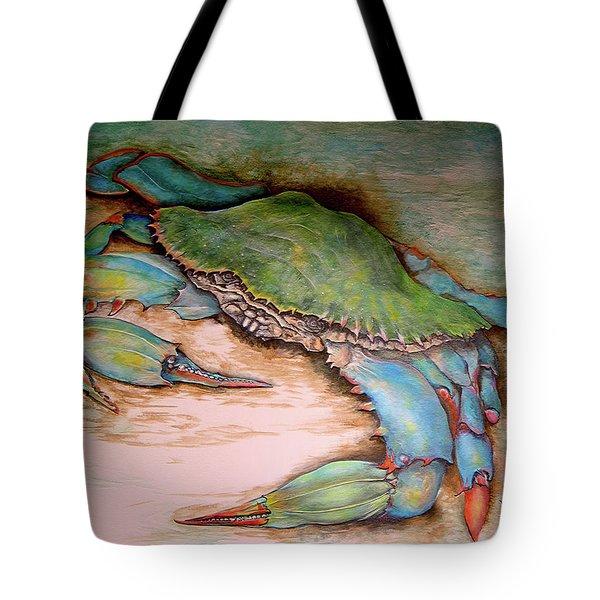 Carolina Blue Crab Tote Bag