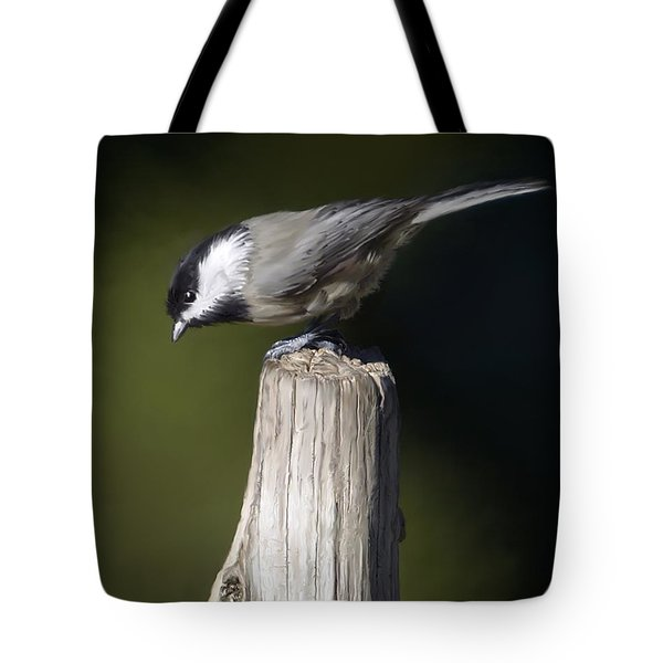 Tote Bag featuring the photograph Carolina Chickadee by Don Olea