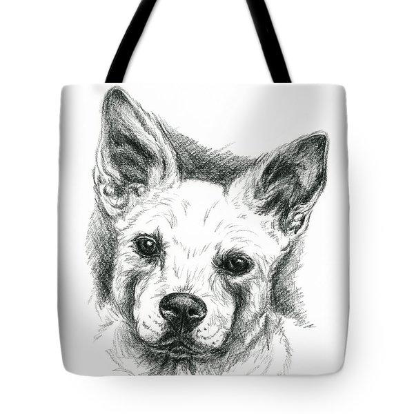Carolina Dog Charcoal Portrait Tote Bag