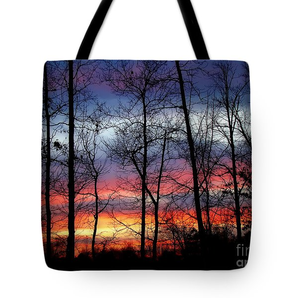 Tote Bag featuring the photograph Carolina Sunset by Sue Melvin