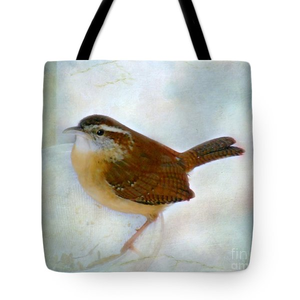 Carolina Wren Tote Bag by Brenda Bostic