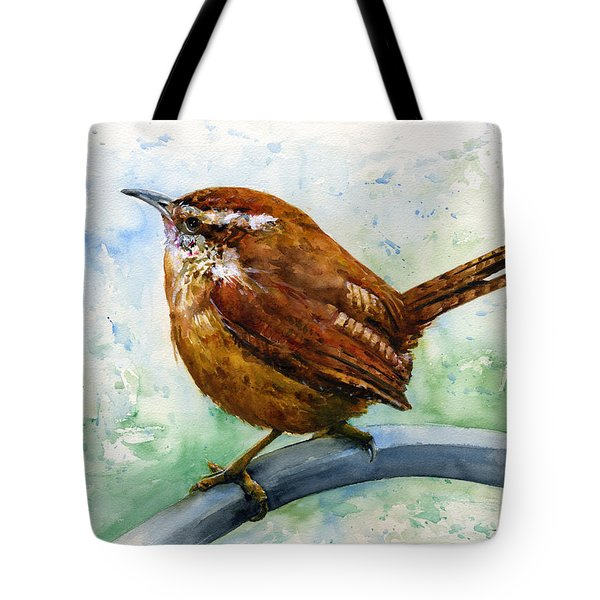 Carolina Wren Large Tote Bag