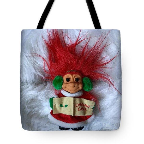 Caroling Troll Christmas 2015 Tote Bag by Patricia E Sundik