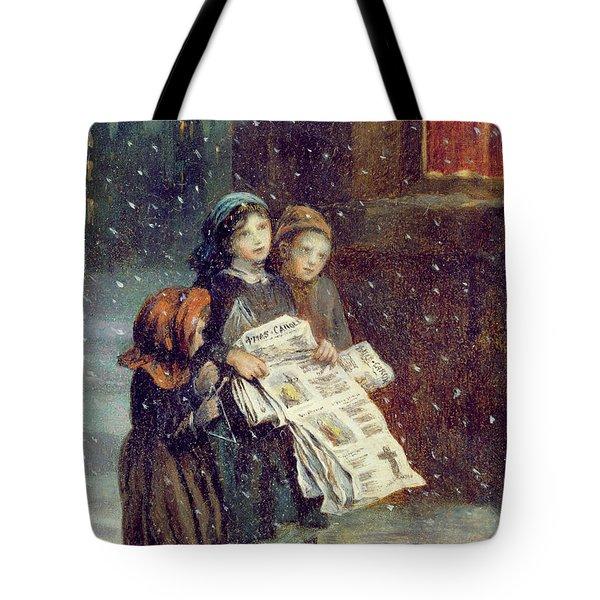 Carols For Sale  Tote Bag by Augustus Edward Mulready