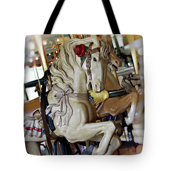 Carousel Belle Tote Bag by Melanie Alexandra Price