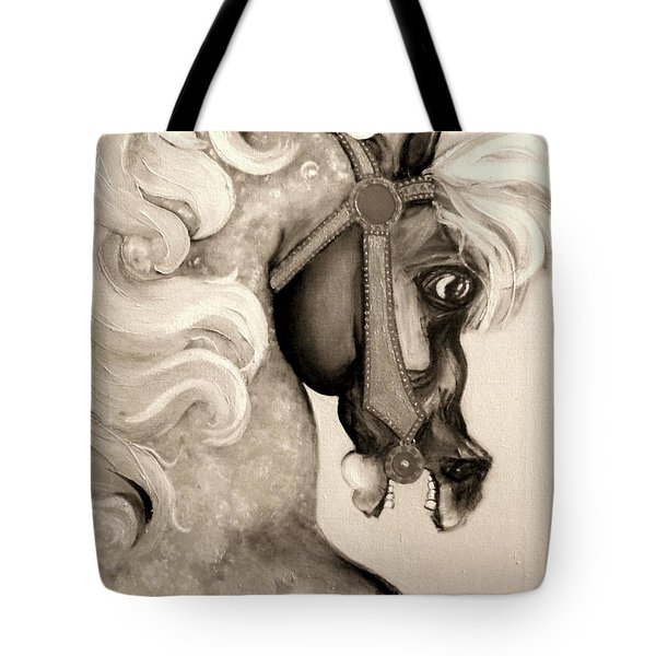 Carousel Tote Bag by Carolyn Weltman