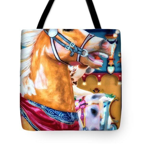 Tote Bag featuring the photograph Carousel Cowboy by Mel Steinhauer