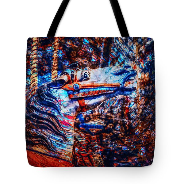 Tote Bag featuring the photograph Carousel Dream by Michael Arend