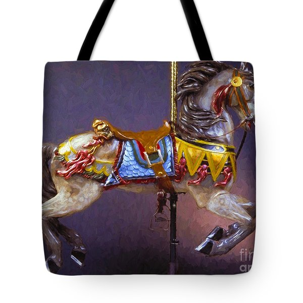 Carousel Dreams Iv Impasto Painting Tote Bag