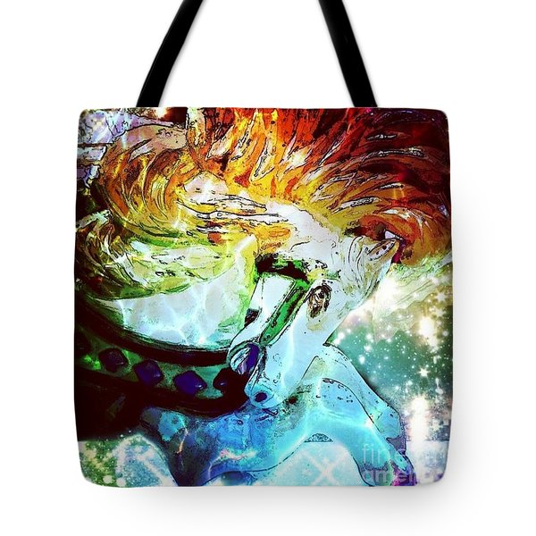 Carousel Fire Tote Bag