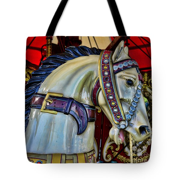 Carousel Horse - 7 Tote Bag by Paul Ward