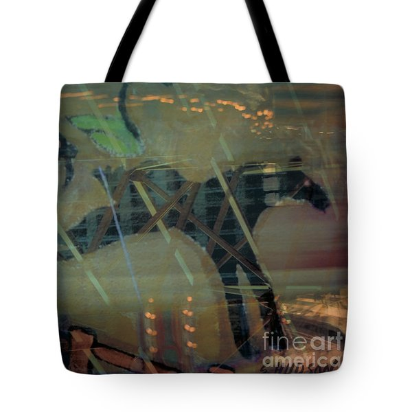 carousel horse fantasy art - Stop the World I Wanna Get Off Tote Bag