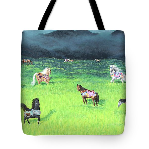 Carousel Horse Retirement Tote Bag