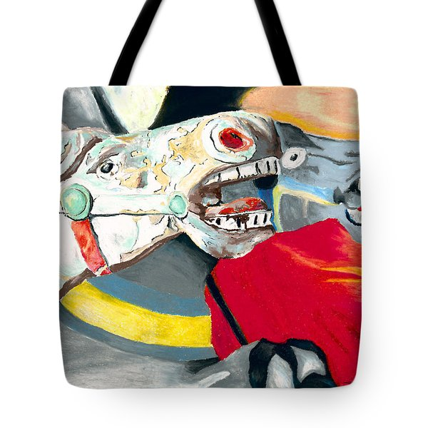 Carousel Horses Tote Bag by Stephen Anderson