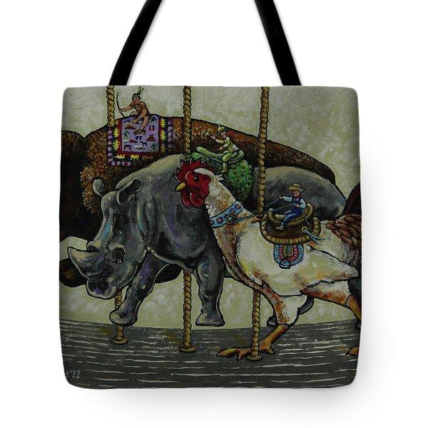 Carousel Kids 1 Tote Bag by Rich Travis