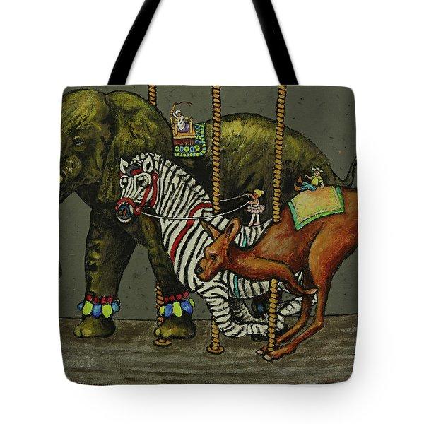 Carousel Kids 2 Tote Bag by Rich Travis