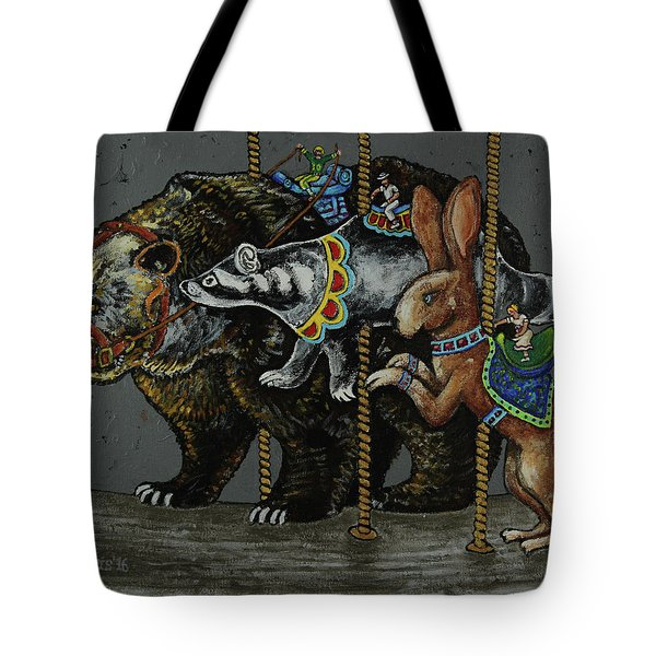 Carousel Kids 4 Tote Bag by Rich Travis