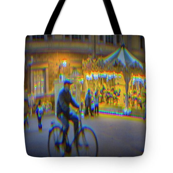 Carousel Lucca Italy Tote Bag