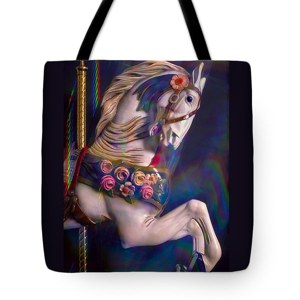 Tote Bag featuring the photograph Carousel Memories by Marie Hicks