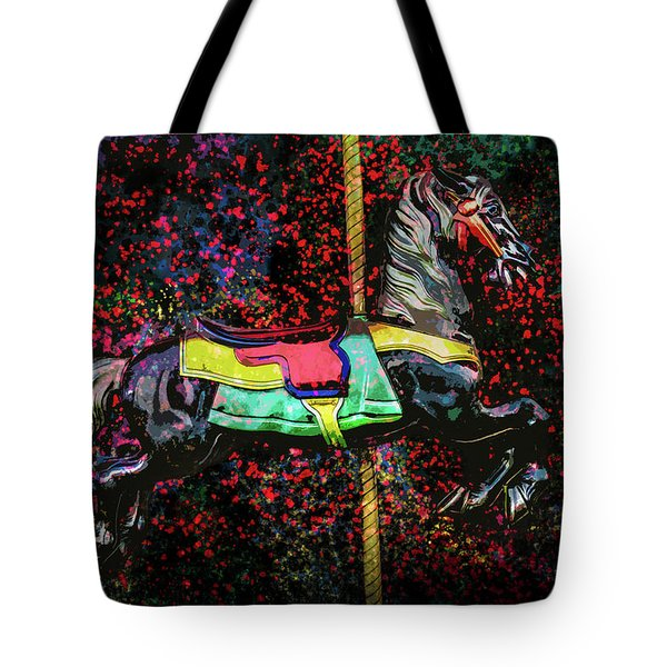 Tote Bag featuring the photograph Carousel Number 16 by Michael Arend