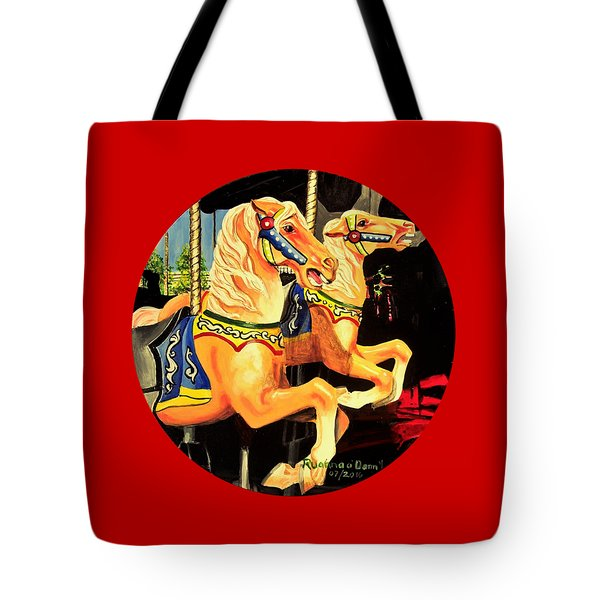 Carousel Palominos Tote Bag