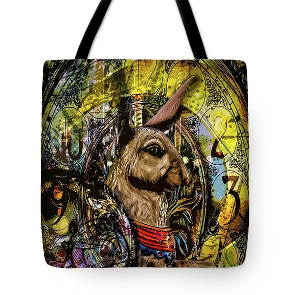 Tote Bag featuring the photograph Carousel Rabbit by Michael Arend