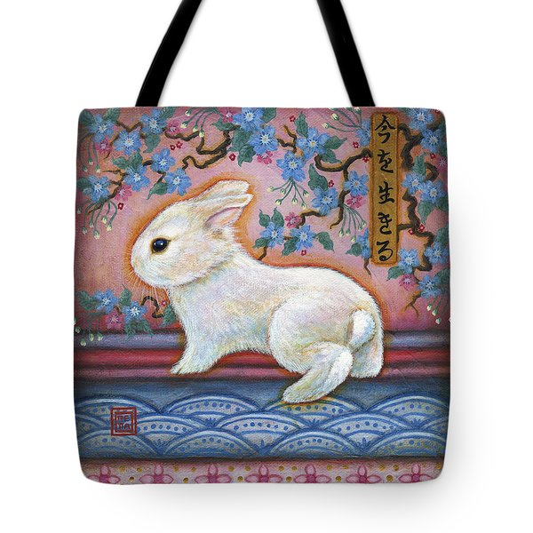 Carpe Diem Rabbit Tote Bag