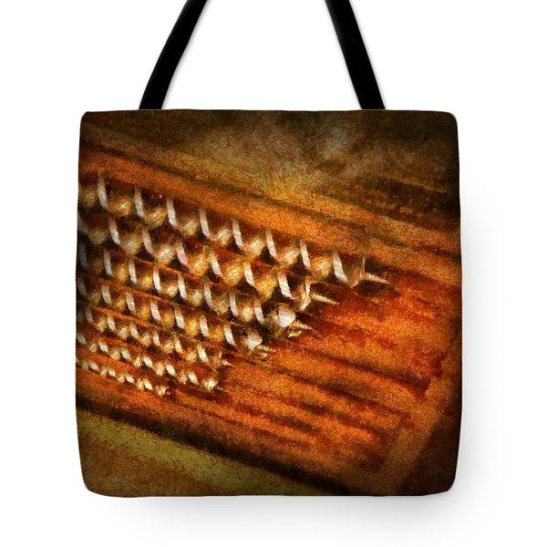 Carpenter - Auger Bits  Tote Bag by Mike Savad