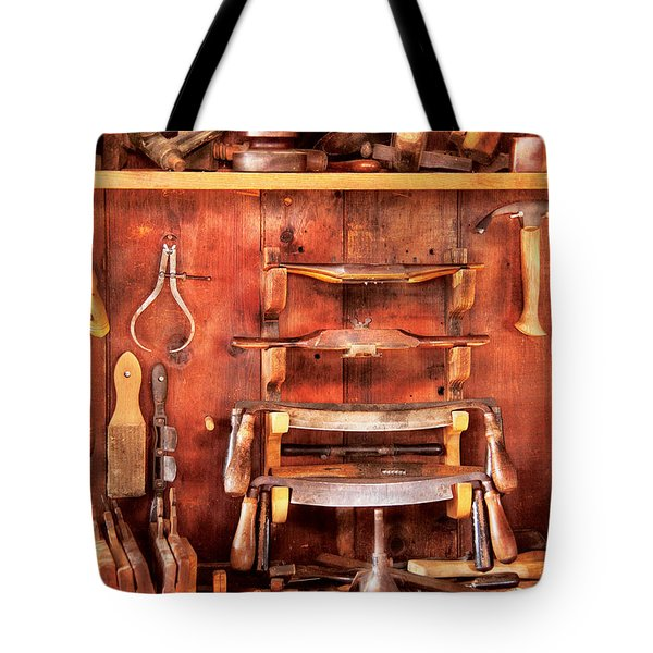 Carpenter - Spoke Shaves Tote Bag by Mike Savad