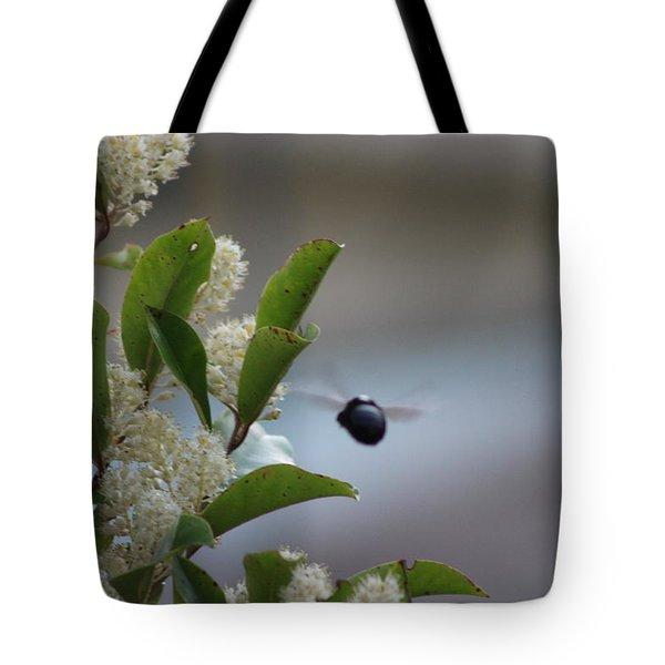 Carpenter Bee In Flight Tote Bag by Colleen Cornelius