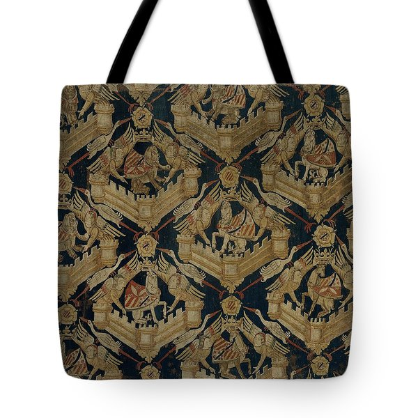 Textile Tapestry Carpet With The Arms Of Rogier De Beaufort Tote Bag