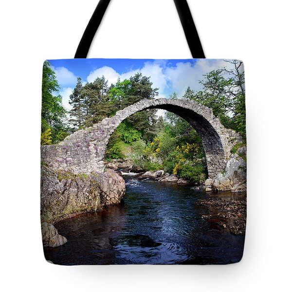 Carr Bridge Scotland Tote Bag