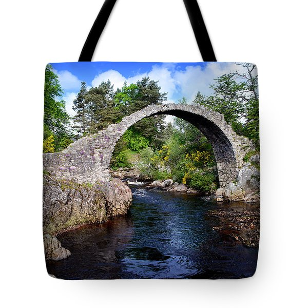 Carr Bridge Scotland Tote Bag by Don and Bonnie Fink