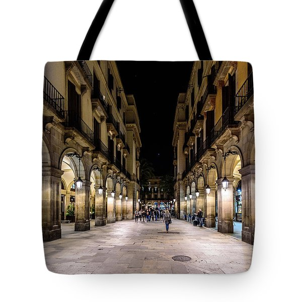 Carrer De Colom Tote Bag by Randy Scherkenbach